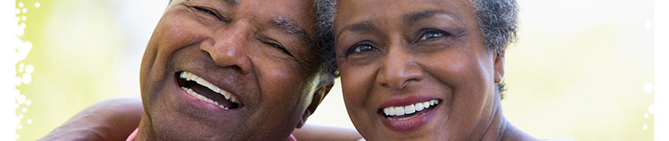 people with dentures smiling