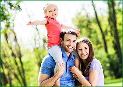 happy family of 3